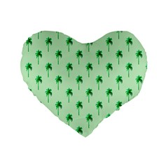 Palm Tree Coconoute Green Sea Standard 16  Premium Heart Shape Cushions by Jojostore