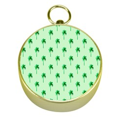 Palm Tree Coconoute Green Sea Gold Compasses by Jojostore
