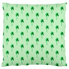 Palm Tree Coconoute Green Sea Standard Flano Cushion Case (one Side) by Jojostore