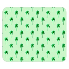 Palm Tree Coconoute Green Sea Double Sided Flano Blanket (small)  by Jojostore