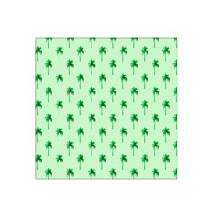 Palm Tree Coconoute Green Sea Satin Bandana Scarf