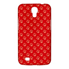 Paw Print Background Wallpaper Cute Paw Print Background Footprint Red Animals Samsung Galaxy Mega 6 3  I9200 Hardshell Case