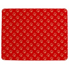 Paw Print Background Wallpaper Cute Paw Print Background Footprint Red Animals Jigsaw Puzzle Photo Stand (rectangular)