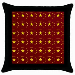Chinese New Year Pattern Throw Pillow Case (Black)