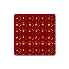 Chinese New Year Pattern Square Magnet