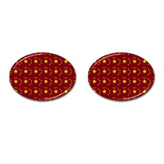 Chinese New Year Pattern Cufflinks (Oval)