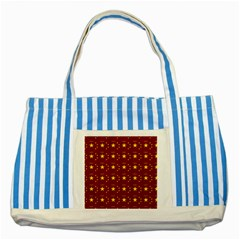 Chinese New Year Pattern Striped Blue Tote Bag