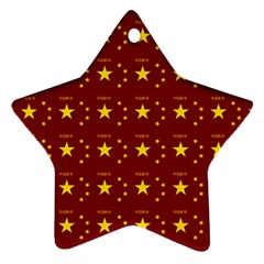 Chinese New Year Pattern Star Ornament (Two Sides)