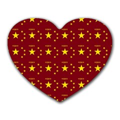 Chinese New Year Pattern Heart Mousepads