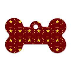Chinese New Year Pattern Dog Tag Bone (Two Sides)