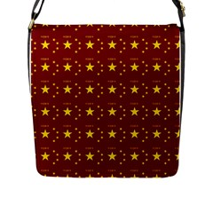 Chinese New Year Pattern Flap Messenger Bag (L)