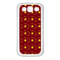 Chinese New Year Pattern Samsung Galaxy S3 Back Case (White)
