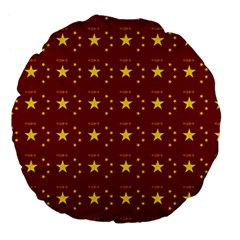 Chinese New Year Pattern Large 18  Premium Flano Round Cushions