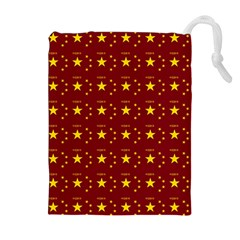 Chinese New Year Pattern Drawstring Pouches (Extra Large)