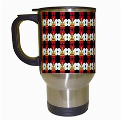 Queen Of Hearts  Hat Pattern King Travel Mugs (white) by Jojostore