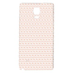 Rose Gold Line Galaxy Note 4 Back Case by Jojostore