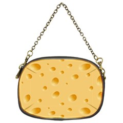 Seamless Cheese Pattern Chain Purses (two Sides)