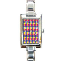 Sheath Malay Sarong Motif Rectangle Italian Charm Watch