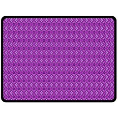 Surface Purple Patterns Lines Circle Fleece Blanket (large)