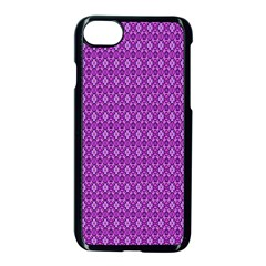 Surface Purple Patterns Lines Circle Apple Iphone 7 Seamless Case (black) by Jojostore