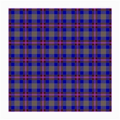 Tartan Fabric Colour Blue Medium Glasses Cloth (2 Side) by Jojostore