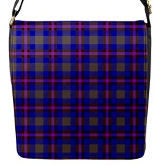 Tartan Fabric Colour Blue Flap Messenger Bag (s) by Jojostore