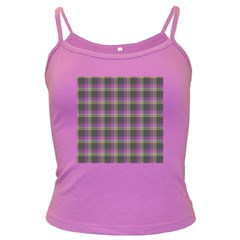 Tartan Fabric Colour Purple Dark Spaghetti Tank