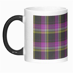 Tartan Fabric Colour Purple Morph Mugs by Jojostore