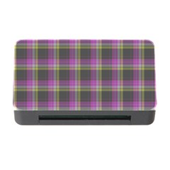 Tartan Fabric Colour Purple Memory Card Reader With Cf by Jojostore