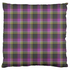 Tartan Fabric Colour Purple Standard Flano Cushion Case (two Sides) by Jojostore