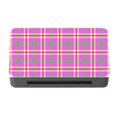 Tartan Fabric Colour Pink Memory Card Reader With Cf by Jojostore