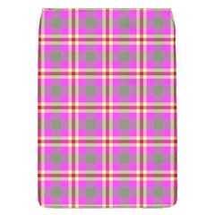 Tartan Fabric Colour Pink Flap Covers (l)  by Jojostore