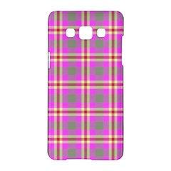 Tartan Fabric Colour Pink Samsung Galaxy A5 Hardshell Case  by Jojostore
