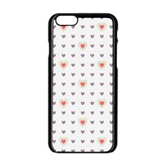 Heart Love Valentine Purple Pink Apple Iphone 6/6s Black Enamel Case by Jojostore