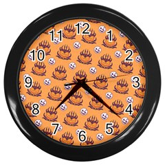 Helloween Moon Mad King Thorn Pattern Wall Clocks (black) by Jojostore