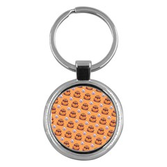 Helloween Moon Mad King Thorn Pattern Key Chains (round)