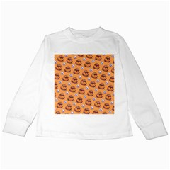 Helloween Moon Mad King Thorn Pattern Kids Long Sleeve T Shirts by Jojostore