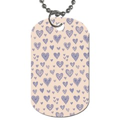 Heart Love Valentine Pink Blue Dog Tag (two Sides) by Jojostore