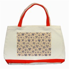 Heart Love Valentine Pink Blue Classic Tote Bag (red)