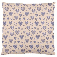 Heart Love Valentine Pink Blue Standard Flano Cushion Case (two Sides)