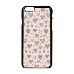 Heart Love Valentine Pink Blue Apple Iphone 6/6s Black Enamel Case by Jojostore