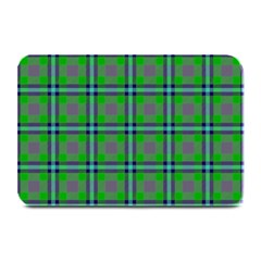 Tartan Fabric Colour Green Plate Mats by Jojostore