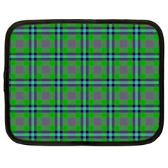 Tartan Fabric Colour Green Netbook Case (xxl)  by Jojostore