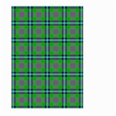 Tartan Fabric Colour Green Large Garden Flag (two Sides) by Jojostore