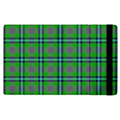 Tartan Fabric Colour Green Apple Ipad 2 Flip Case by Jojostore