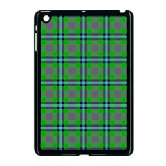 Tartan Fabric Colour Green Apple Ipad Mini Case (black) by Jojostore