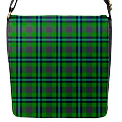 Tartan Fabric Colour Green Flap Messenger Bag (s) by Jojostore