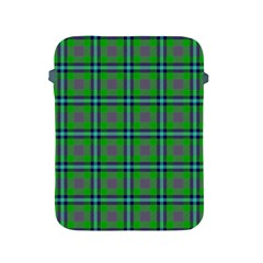 Tartan Fabric Colour Green Apple Ipad 2/3/4 Protective Soft Cases
