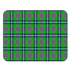Tartan Fabric Colour Green Double Sided Flano Blanket (large)  by Jojostore