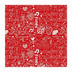 Happy Valentines Love Heart Red Medium Glasses Cloth by Jojostore